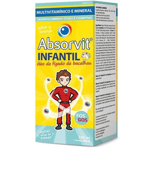 ABSORVIT INFANTIL ÓLEO DE FÍGADO DE BACALHAU